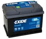 AKUMULATOR 60AH D+ 540A EXCELL EXIDE 242X175X175 - 60AH