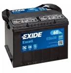 AKUMULATOR 60AH L+ 640A EXCELL EXIDE 230X180X186 - 60AH