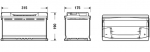 AKUMULATOR 80AH D+ 640A EXCELL EXIDE 315X175X190 - 80AH