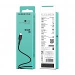 BOROFONE USB kabel - Easy BX16 Type-C 1M črn