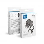 Potovalni polnilnik Micro USB Universal 1A z ločenim kablom Blue