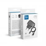 Potovalni polnilnik Micro USB Universal 2A z ločenim kablom Blue